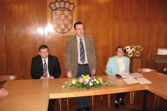 Slijeva na desno prof. dr. Vladimir Mateljan, prof. dr. Dalibor Blažina, prof. dr. Aleksandra Horvat