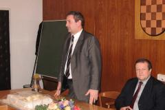 Pročelnik Odsjeka za informacijske znanosti, prof. dr. sc. Vladimir Mateljan i dekan