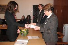 Petra Miočić prima nagradu