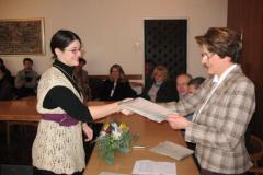 Ana Gabrijela Blažević prima nagradu