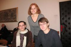 Slijeva na desno: Jagoda Mesić, predsjednica Zakladnog odbora, doc. dr. sc. Ana Barbarić i Denis Kos