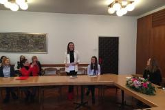 Sara Semenski zahvaljuje na primljenoj nagradi