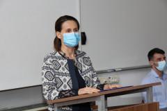 o. d.  prodekanica za studijske programe i cjeloživotno obrazovanje izv. prof. dr. sc.  Dolores Grmača pozdravlja prisutne